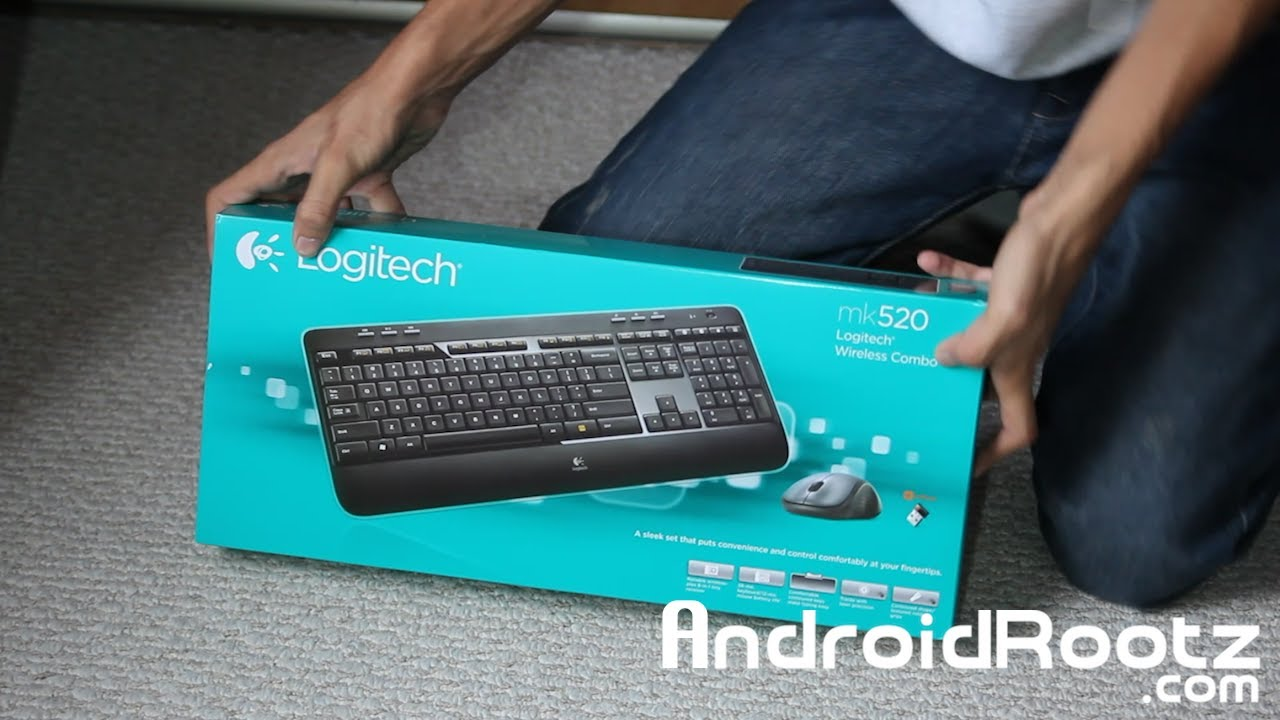 Logitech MK520 Wireless Keyboard and Laser Mouse Unboxing & Quick Look!