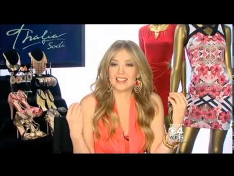 "Latin superstar Thalia presents ""Thalía Sodi Collection"" on ""Centro"" (CBS Boston - 28.02.2015)"