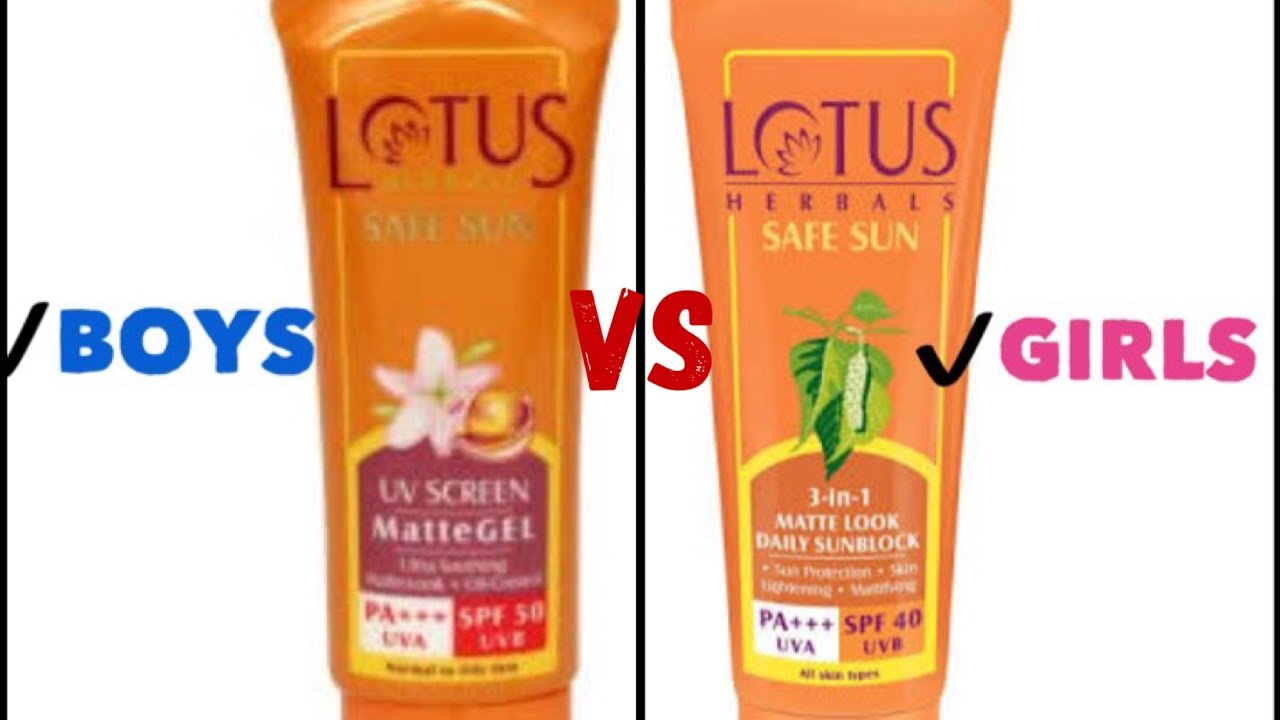 Lotus Matte Gel Sunscreen Review vs Lotus 3 in 1 Matte ...