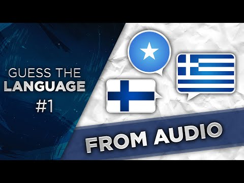 Guess the Language #1 (From Audio)