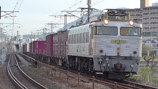 【JR貨物】8057レ EF81-303 銀釜