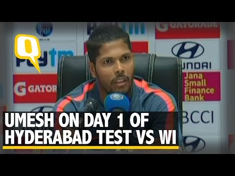 Umesh Yadav on Day 1 of Hyderabad Test vs West Indies | The Quint