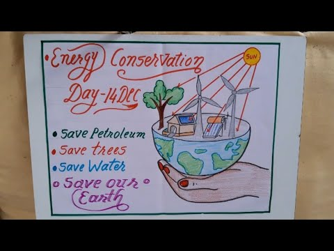 Energy Conservation Day Drawing Energy Saving Poster For Competition Energy Saving Slogans Youtube