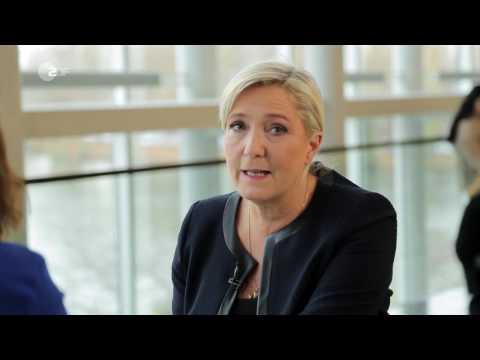 Marine Le Pen im Interview - auslandsjournal | ZDF