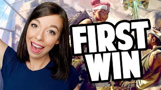 MY FIRST APEX LEGENDS WIN! (Free to Play Battle Royale)