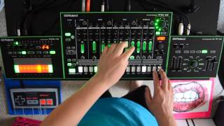 roland aira deep house live jam tr 8 tb 3 vt 3 with tommy j obscure machines