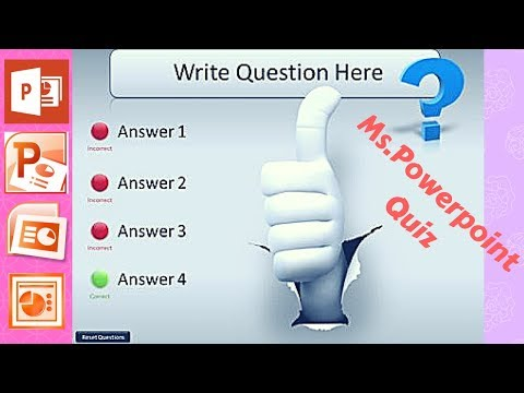 Make Intractive Quizzes With Powerpoint (2018) |HD|