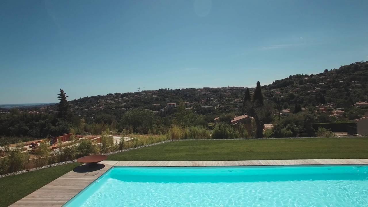 piscines magiline vue du ciel vence youtube. Black Bedroom Furniture Sets. Home Design Ideas