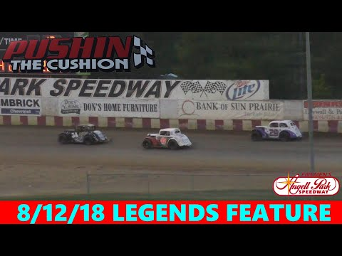 Angell Park Speedway - 8/12/18 - Legends - Feature