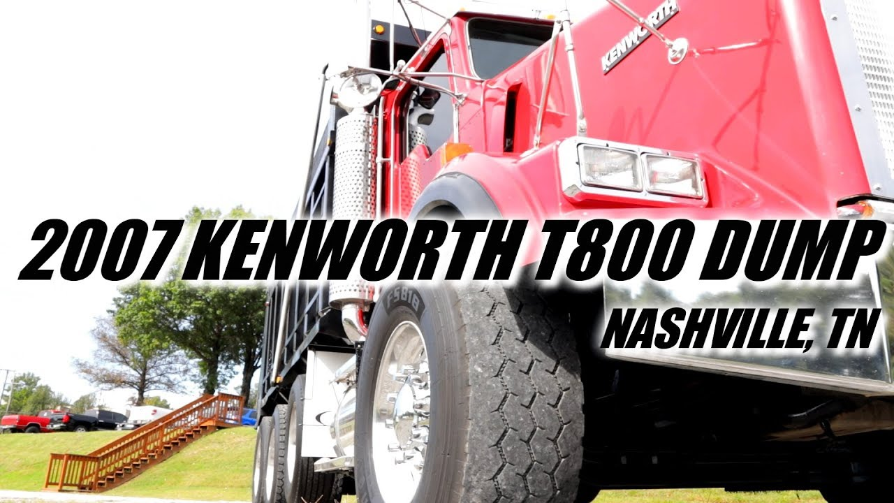 for sale 2007 kenworth t800 dump caterpillar c15 stock 403518 nashville tn [ 1280 x 720 Pixel ]