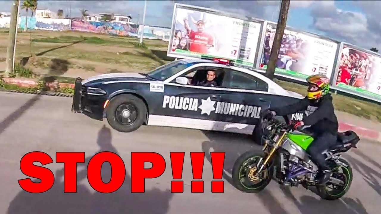 POLICE CHASE STUNT BIKERS   ANGRY & COOL COPS   [ Episode 117]