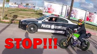 POLICE CHASE STUNT BIKERS | ANGRY & COOL COPS | [ Episode 117]