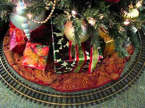 Train under the christmas tree for santa youtube