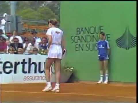 Chris Evert vs Manuela Maleeva Lugano 1987