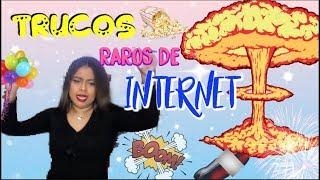 PROBANDO TRUCOS RAROS DE INTERNET 💥😲| Yady Bravo