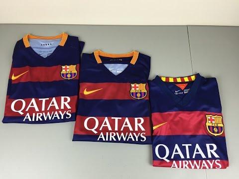 Authentic vs Replica vs Fake 2015/2016 FC Barcelona Home Jerseys - Comparison [4K]