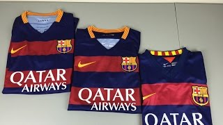 Authentic vs Replica vs Fake 2015/2016 FC Barcelona Home Jerseys - Comparison [4K]