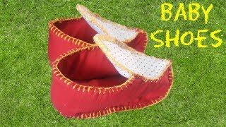 Diy shoes tutorial for Baby girl / boy from waste cloth and material // by simple cutting