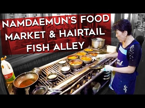Namdaemun's Food Market & Hairtail Fish Alley (남대문시장푸드마켓과 갈치골목) - 🇰🇷 SEOUL WALK