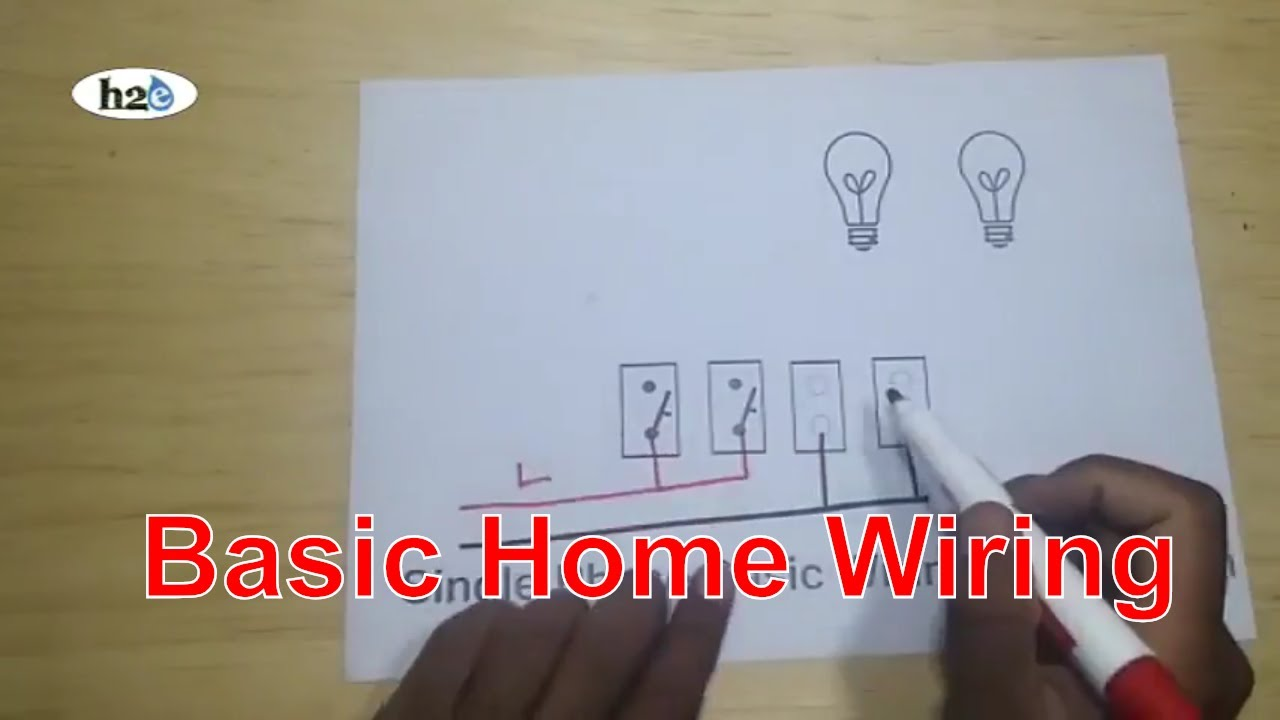 Single Phase Basic Wiring Connection Home How 2 Engineers H2e Youtube