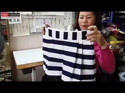 Hướng dẫn may quần short nữ tại Thời Trang Thuỷ phần 4 - Sewing shorts for women