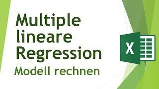 Multiple lineare Regression in Excel rechnen - Daten analysieren in Excel (8)