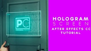 Hologram Screen Effect - After Effects Tutorial