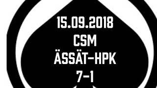 Juniori-Ässät - C1-joukkue - 15.09.2018 CSM Ässät-HPK Maalikooste