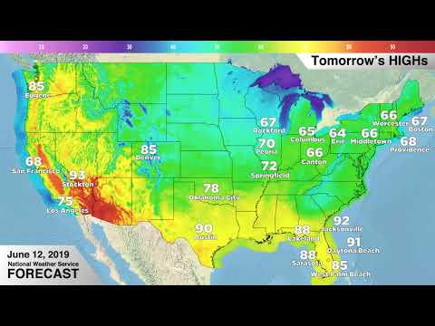 Weather Forecast - Wednesday, June 12, 2019 - YouTube