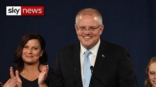 Australian PM Scott Morrison wins surprise re-election