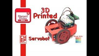 Arduino Autonomous Servo Robot Designed in Tinkercad