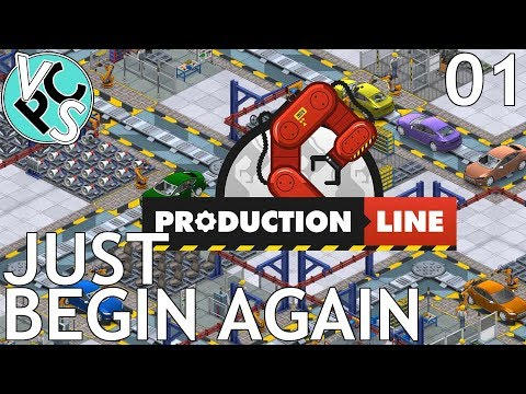 Just Begin Again : Let's Play Production Line EP01 - Alpha 1.30 Manufacturing Tycoon Gameplay