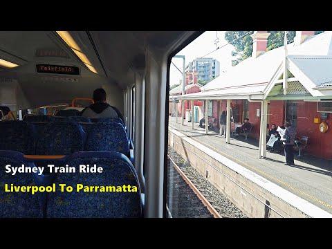 Sydney Train Ride From Liverpool To Parramatta | Sydney Australia