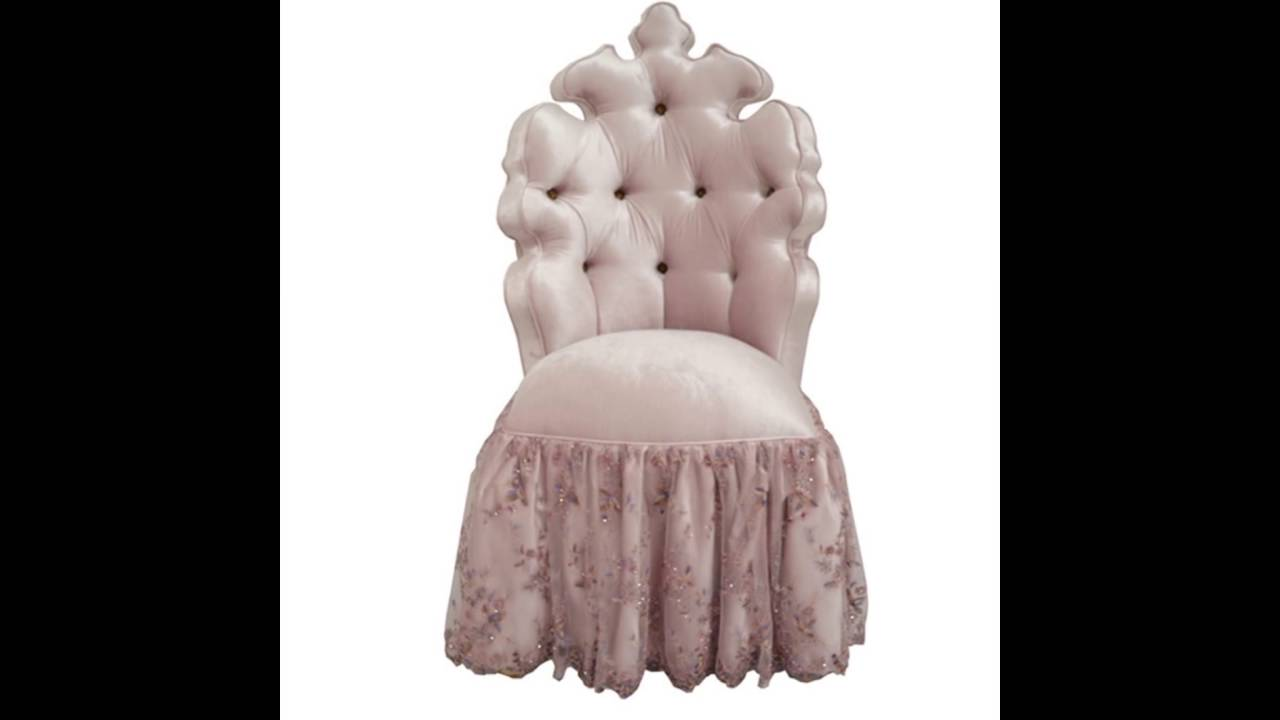 Tufted Vanity Chair Pink Velvet Tufted Vanity Chair