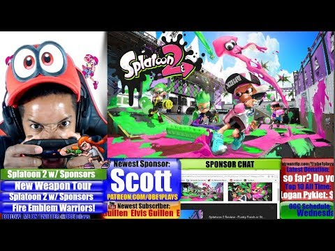 New Splatoon 2 Weapon Tonight! Gaming With Sponsors!