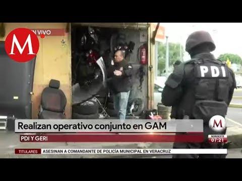 En GAM, realizan operativo contra autopartes robadas