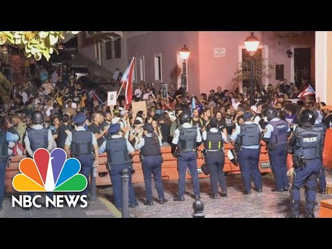 Hundreds Protest, Call For Resignation Of Puerto Rico Governor Rosselló   NBC News