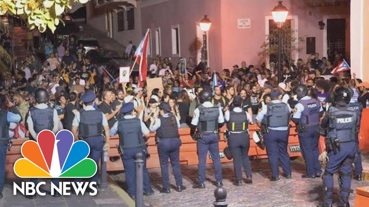 Hundreds Protest Call For Resignation Of Puerto Rico Governor Rossello Nbc News