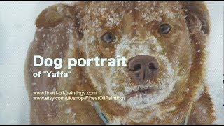 Dog portrait, oil painting of