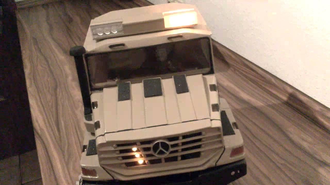 RC Mercedes Zetros 6x6 Leuchtentest 2 - YouTube
