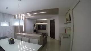 Sala de estar/jantar com iluminação