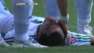 Денис Колодин вырубил мячом в голову Клебера