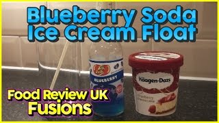 Blueberry Soda Ice Cream Float - Food Review Uk Fusions