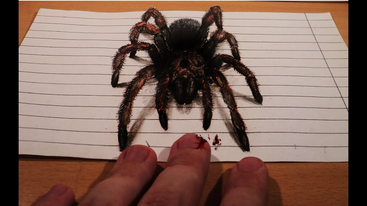 How To Draw Realistic Spider 3d Illusion Anamorphic Illusion