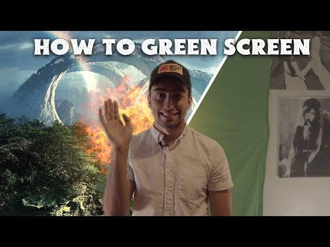 SUPER EASY Green Screen Tutorial! - How to Green Screen thumbnail