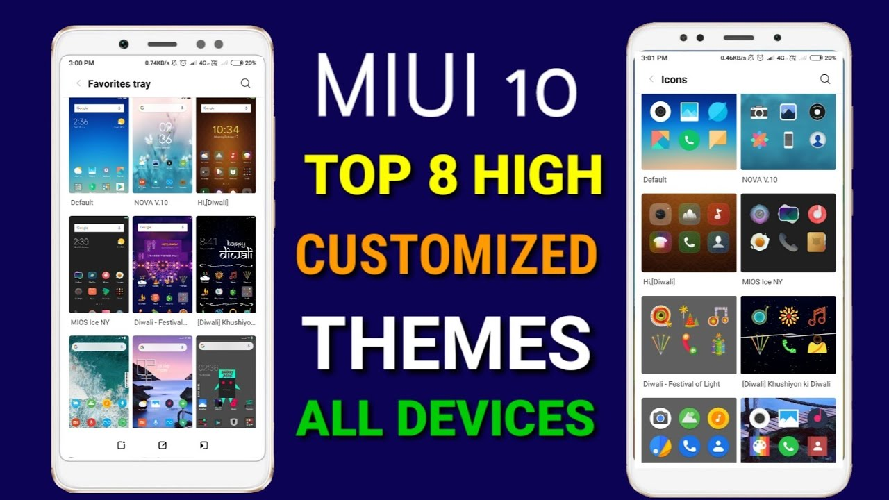 Miui 10 top themes 2018 - 2019 | Top 7 themes of MIUI 10 for Redmi note 4,  Redmi note 5 pro by MD Talk