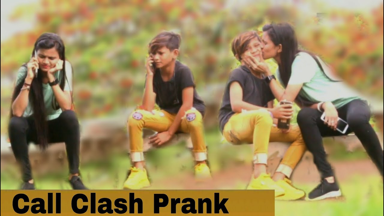 Call Clash Prank With Cute Girl (Gone Wrong)|| The Bharti Films||