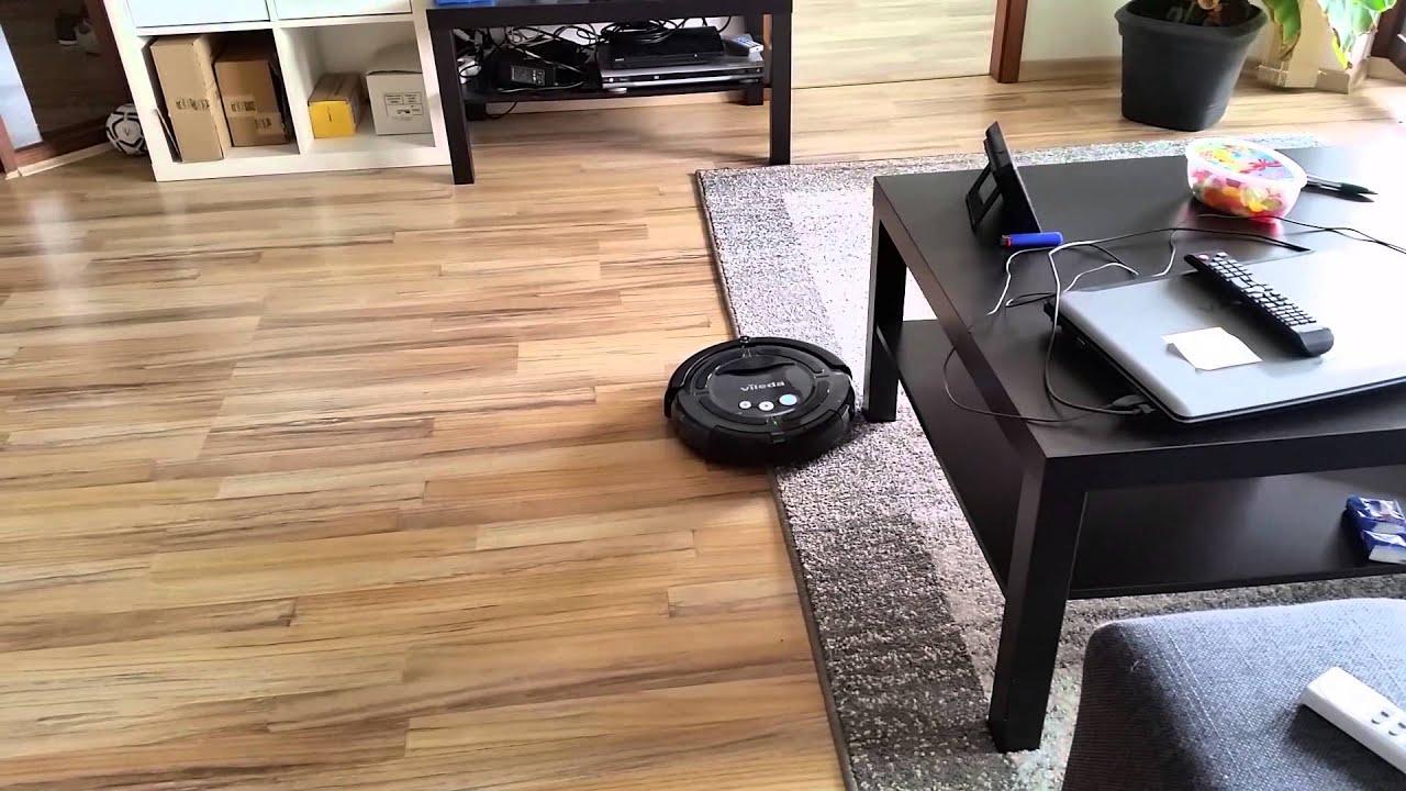 vileda cleaning robot testfahrt youtube. Black Bedroom Furniture Sets. Home Design Ideas