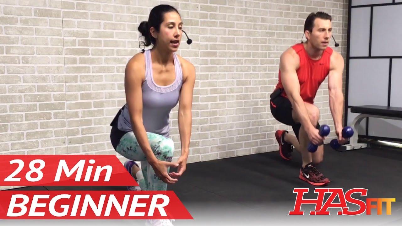 28 Min Beginner Workout Routine For Men Women