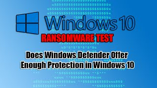 does windows defender offer enough protection in windows 10